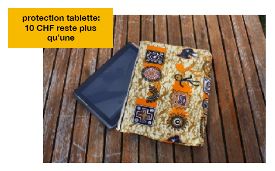 Protection tablette, 10.- francs